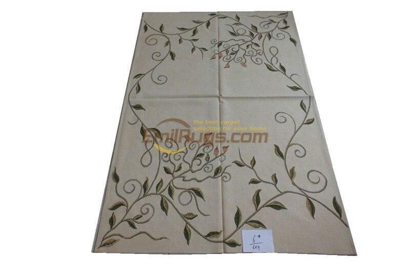 Tapis pour chambre salon tapis aubusson tapis fait main tapis en laine 183 CM X 274 CM (6' X 9') 6 gc125aub yg19