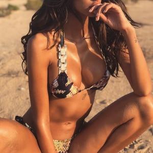 Image 5 - In X Snake print bikinis 2020 mujer Dreieck badeanzug weibliche biquinis Micro bikini set Push up bademode frauen bade anzug neue