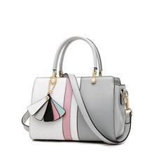 Fashion Small Handbag Contrast Color Stitching Shoulder Bag Genuine Leather Handbags Crossbody Bags for Women  bolsa feminina