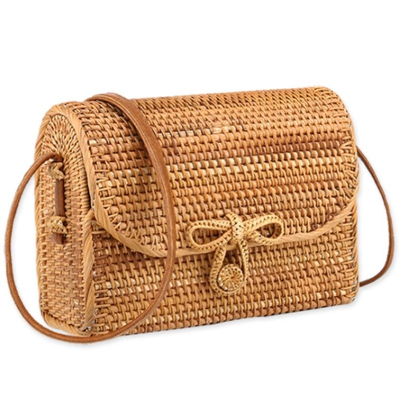 Straw Bag For Women Rattan Handbags Summer Woven Beach Tote For Ladies Babi Rattan Bag Female Sac Bohemia Shoulder Bag Straw