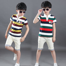 Baby Summer Clothes 4 6 8 10 12 Yrs Baby Boy Clothes Set Striped T-shirt Tops+Short Pants Outfits Clothes Children Clothing