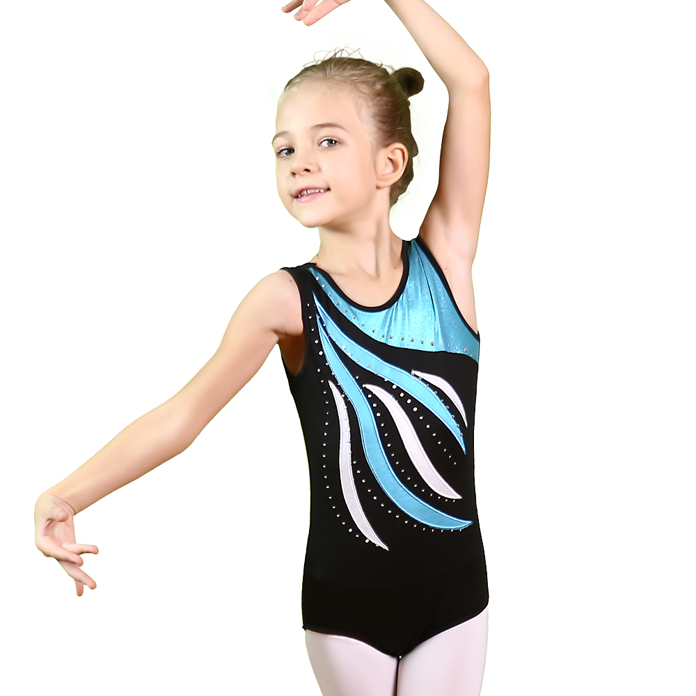 BAOHULU Toddler&Teens Girls Dress Ballet Gymnastics Leotard Gold Foiled Sleeveless Unitards Children Dancewear for Kids 3-15Y new girls ballet costumes sleeveless leotards dance dress ballet tutu gymnastics leotard acrobatics dancewear dress