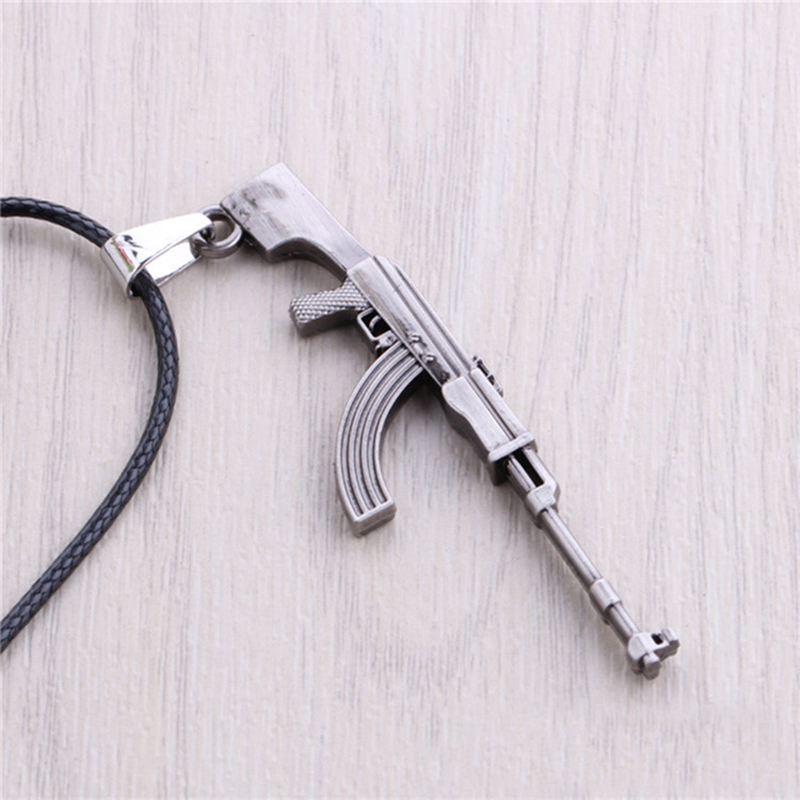 19 Styles CS GO Gun AK47 AMW MA4 Leather Necklace For Men CSGO Anime Weapon Neckless Male Collier Homme Best Friends