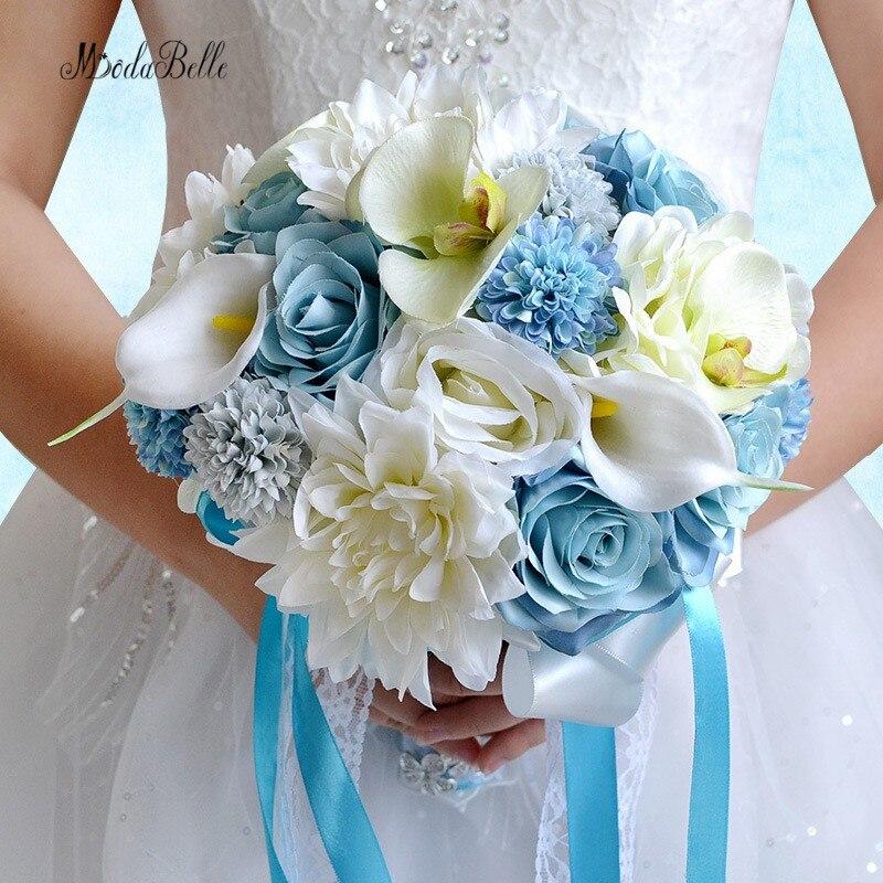 Bouquet Sposa Spiaggia.Romantico Blu Rose Spiaggia Fiori Matrimonio Bouquet Da Sposa
