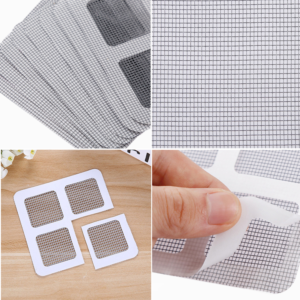 3pcs Mosquito Net Patch Patch Self-adhesive Tape Fast Pest Control Door Mesh Window Screen Magnet Mosquito Net Repair Tool