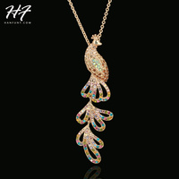 dbb37b482723 Top Quality N296 Crystal Peafowl 18K Gold Pated Pendant Necklace Jewelry  Austrian Crystal Wholesale