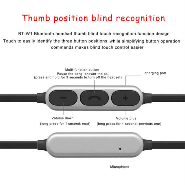 Sports Bluetooth Earphone Wireless Bluetooth Headphones Metal Magnetic  Headphones for Xiaomi iPhone 6s/7 Auriculares Bluetooth