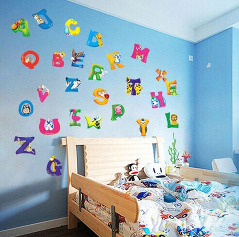 New Arrival Colorful Alphabet Letters DIY Decorative Wall Stickers Decals  For Nursery Kids Bedroom In Wall Stickers From Home U0026 Garden On  Aliexpress.com ...