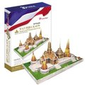 New CubicFun 3D puzzle paper model Children gift DIY toy MC124H Thailand WAT PHRA KAEW Jade Buddha Temple inlaid with gold foil