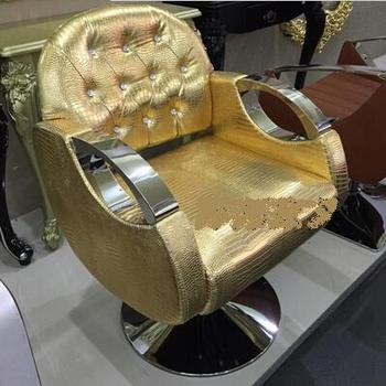 Hairdressing salon chair barber chair salon chair new haircut barber chair stool Continental gold euramerican style design hairdressing chair barber chair