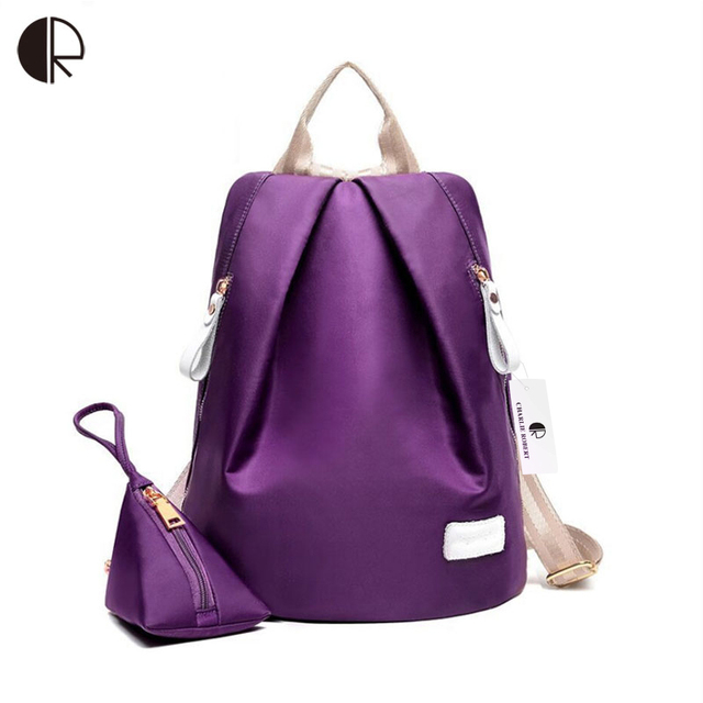 New Women Fashion Oxford Backpacks Solid Daily Casual School Bags For teenagers Brand Design Antitheft Waterproof Bags BP653