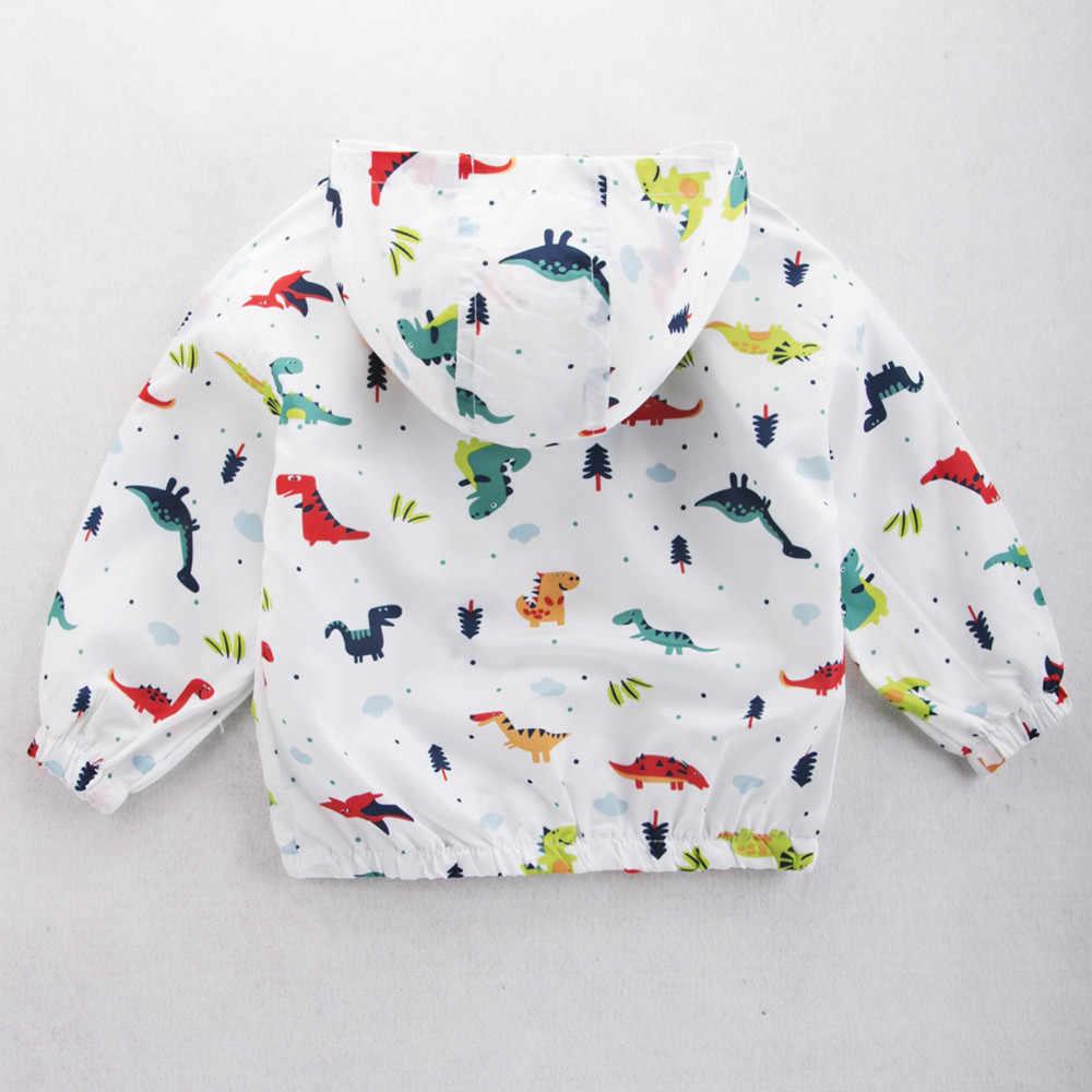 MUQGEW/куртка с динозавром; Верхняя одежда для малышей; пальто для мальчиков и девочек; детская одежда с капюшоном; пуховик для девочек; зимние комбинезоны