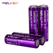 الحار! FELYBY جديد الأصلي 18650 بطارية 3.7 فولت 3400mAh 2 10 قطعة بطارية ليثيوم عالية السعة قابلة للشحن