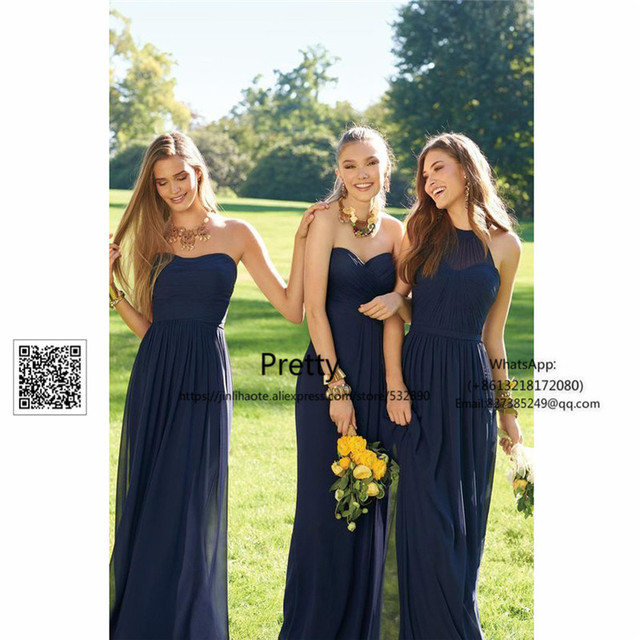 Simple 2017 New Bridesmaid Dresses Long with ABC Design Wedding Guest  Dresses Weddibng Party Gown women Bridesmaid Dress e95843ee347c