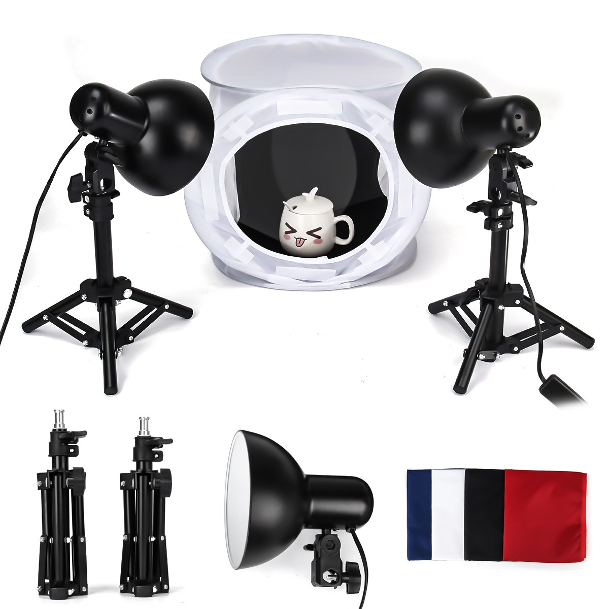 Room Photo Studio Photography Kit Light Bulb Lighting Muslin Backdrop Stand Set 2018 New Arrival 1pc 150w 220v 5500k e27 photo studio bulb video light photography daylight lamp for digital camera photography