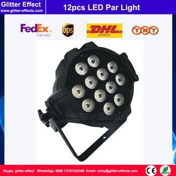 DJ etap 12 sztuk LED lampa PAR RGBW 4 W Super star 7x12 W oświetlenie sceniczne dla Disco koncert weselny Party
