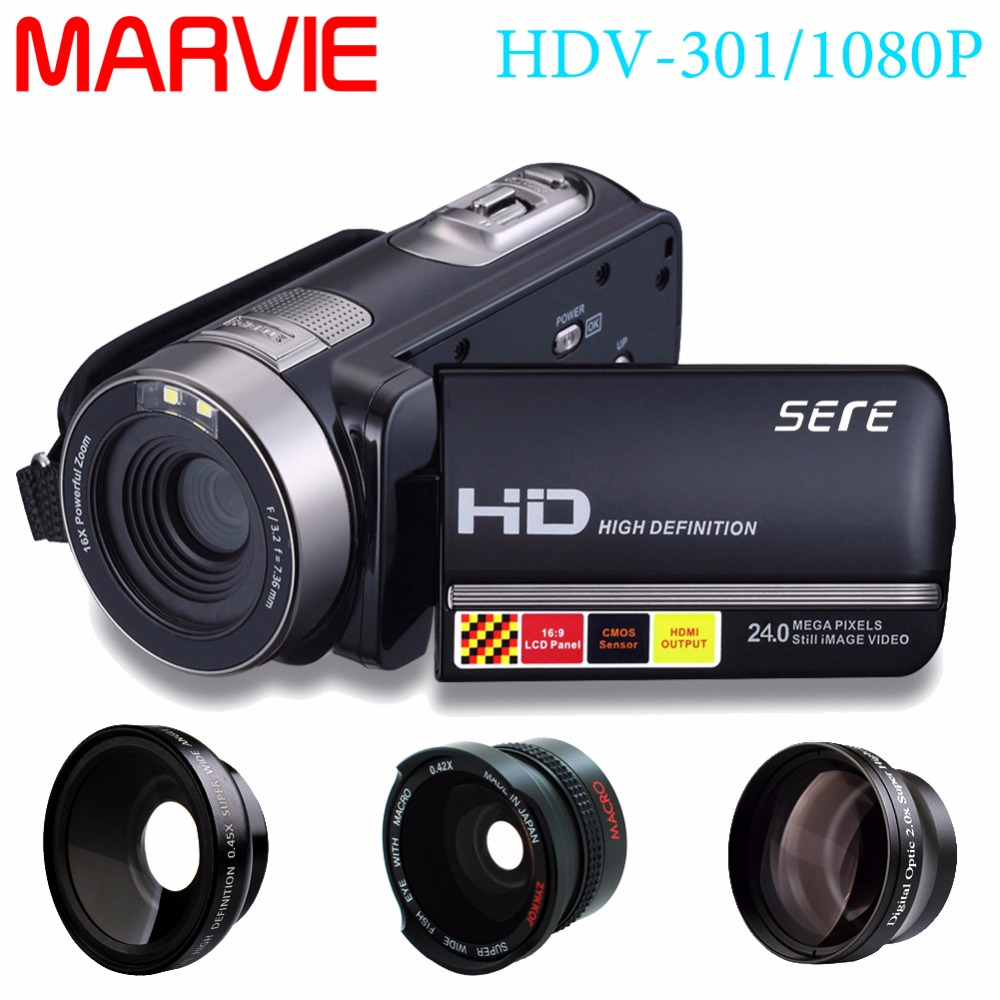 Marvie Night Vision IR/Night Full HD 1080p Digital Video Camera Photo Touch Remote Wide Angel Lens Portable Mini HDMI Camcorder 1
