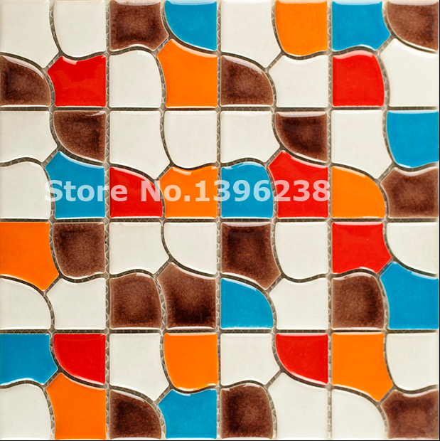 Free shipping,Ceramic mosaic tile kitchen background/bathshower/hallway/fireplace colorful border Art home wall tiles,LSQHC08