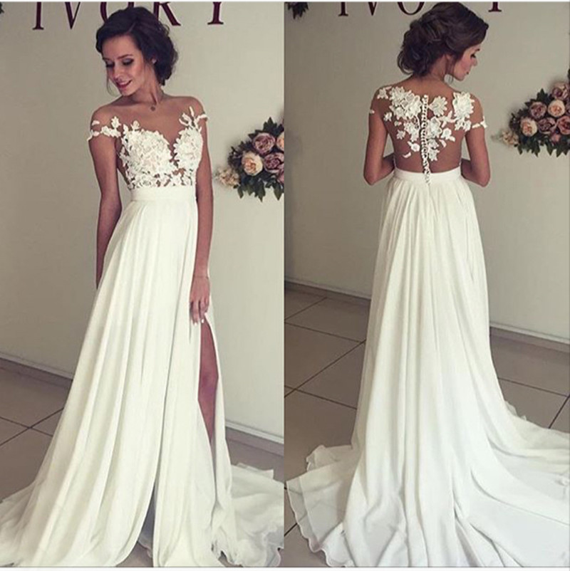 Cheap simple long prom dresses - Prom dress style