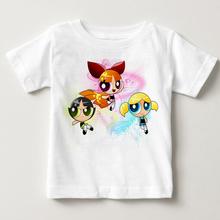Hot sale The Powerpuff Girls childrens T Shirt Blossom Cotton Short Sleeve  Tshirt Clothes 2018 Fun T-shirt For Baby MJ