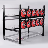 2018 New 12GPU 10Fans Stackable Durable Open Air Frame Mining Miner Rig Case Suitable For Crypto