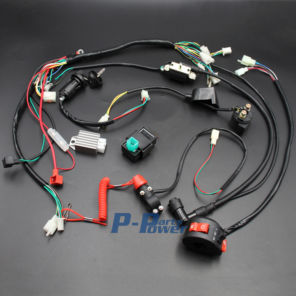 hight resolution of wiring harness loom solenoid coil rectifier cdi kill switch 50cc 70cc 90cc 110cc 125cc atv quad bike buggy gokart new in motorbike ingition from automobiles