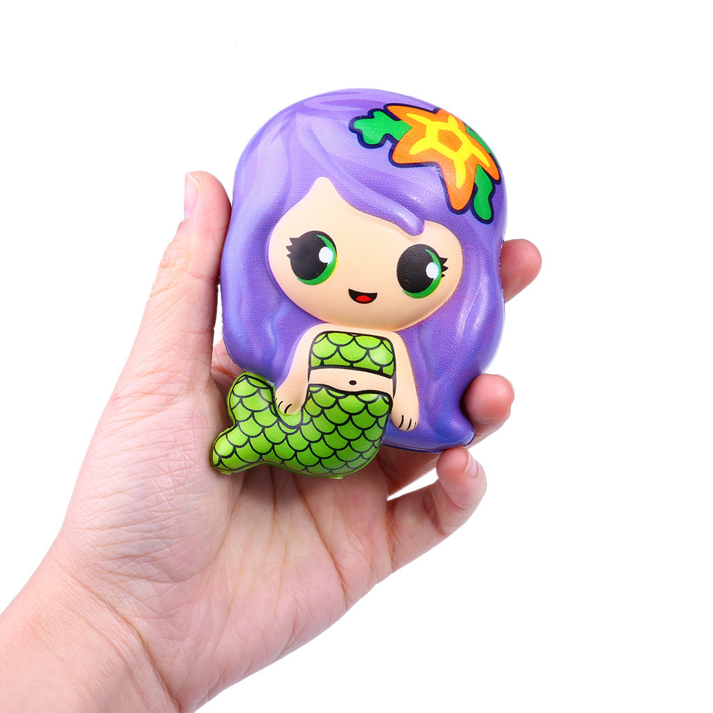 Poopsie slime surprise Giant squishy Cute Mermaid Scented Super Slow Rising Kids Toy Stress Reliever Toy Squeeze Toy Squishi inflatable