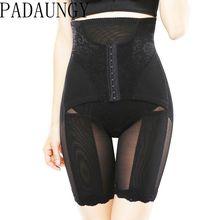 PADAUNGY High Waist Tummy Control Panties Slimming Belt Waist Trainer Hot Body Shaper Shapewear Butt Lifter Briefs Underwear