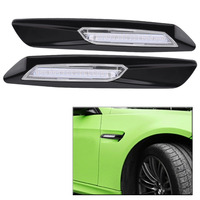 1 Pair Car Auto LED Side Marker Turn Signal Light Lamps for BMW E81 E92 E93 E90 E60 E61