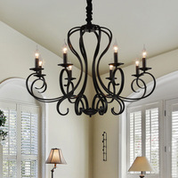 Большая деревенская гостиная модная железная Подвесная лампа 6/8 головок свечной подвесной светильник для ресторана/столовой/спальни лампо...