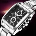 BOSCK Brand Quartz Watches Men Stainless Steel Ultra Thin Watch Waterproof Business Dress Wristwatch 3113 relogio masculino