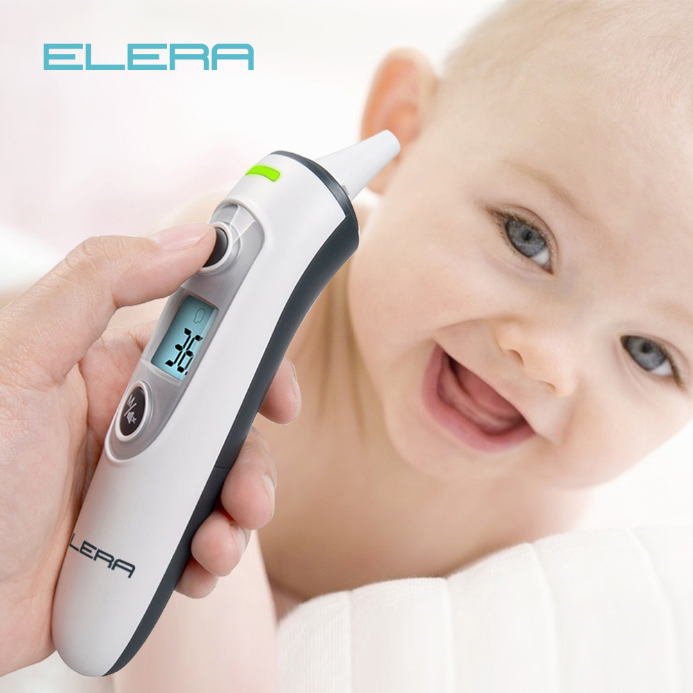 ELERA New Baby Thermometer Digital Infrared  IR LCD Baby Forehead  and Ear Non Contact Adult Body Fever Measurement  TermometroThermometers