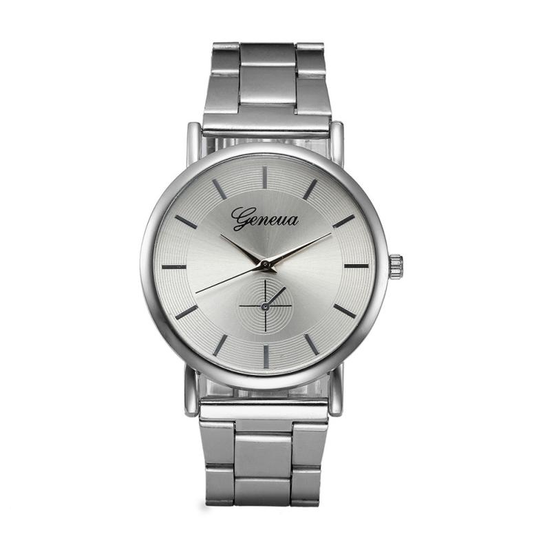 Women Watches Top Brand Military Wristwatches Stainless Steel Fashion Silver Luxury Clock Woman Quartz Watch 18MAY17 gold & silver women luxury watches stainless steel dress quartz elegant watch fashion wristwatches ladies relogios top quality