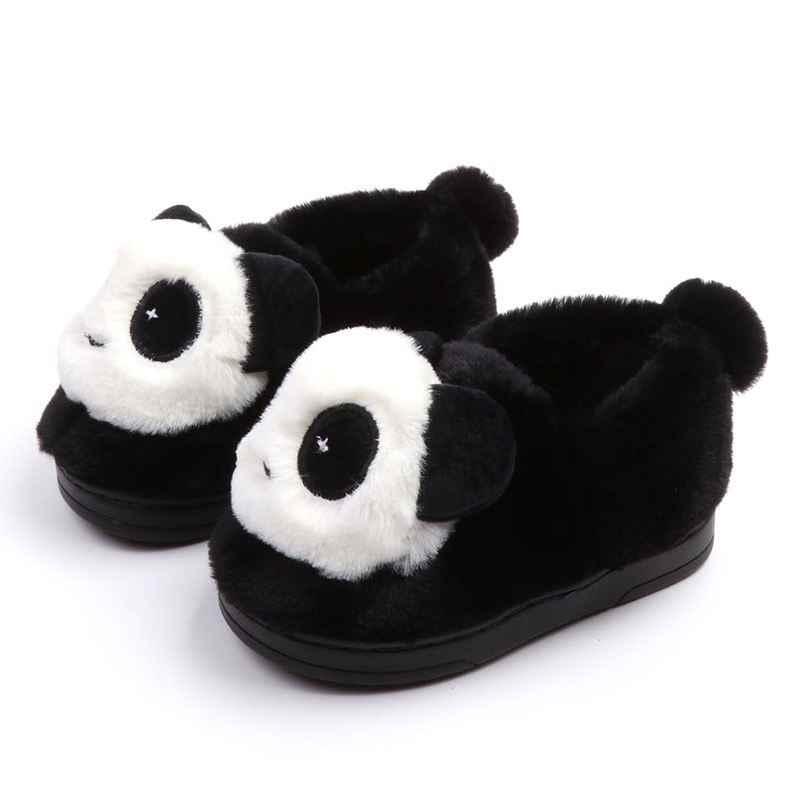 Kids Home Schoenen Slippers Winter Baby Meisjes Jongens Panda Katoen Slippers Mode Kinderen Indoor Slippers antislip Zachte Slippers