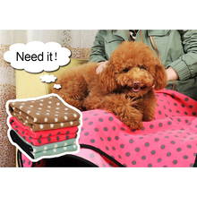 Dog mat Soft Fleece Blanket Polka Dot Blanket for Dog bed Cat Puppy Kennel Warm Mat Cushion for Car,Sofa, Pet Bed and Carrier