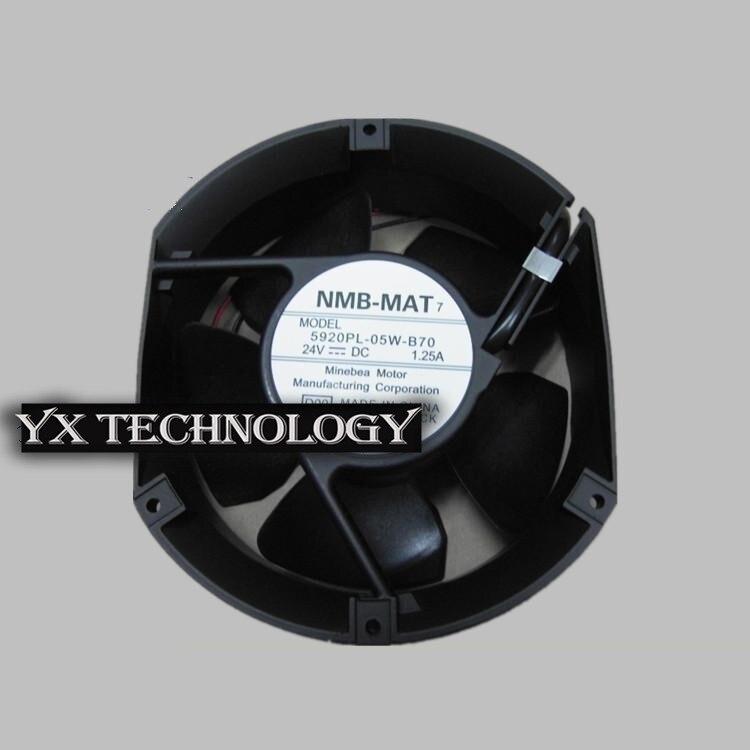 New and original inverter fan 5920PL-05W-B70 winds of axial fan 24V 1.25A 172*150*51mm original brand new 3612kl 05w b50 9032 24v 0 32a 9cm two wire inverter fan