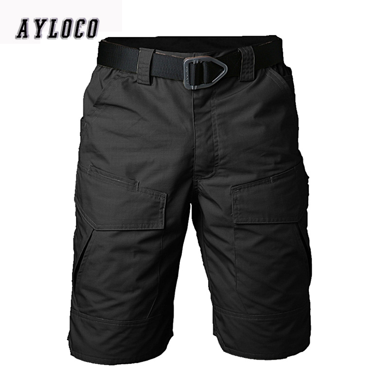New Summer Military Waterproof Tactical Cargo Shorts Men Teflon Camouflage Army Military Short Men casual Shorts