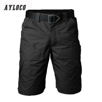 New Summer Military Waterproof Tactical Cargo Shorts Men Teflon Camouflage Army Military Short Men casual Shorts