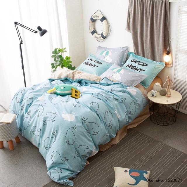 tutubird enfants bande dessin e housse de couette panda pingouin dauphin requin literie ensemble. Black Bedroom Furniture Sets. Home Design Ideas