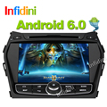 1024*600 Pure Android 6.0 car dvd Glonass /gps player  for Hyundai IX45 Santa fe 2013 2014  wifi car radio video stereo player