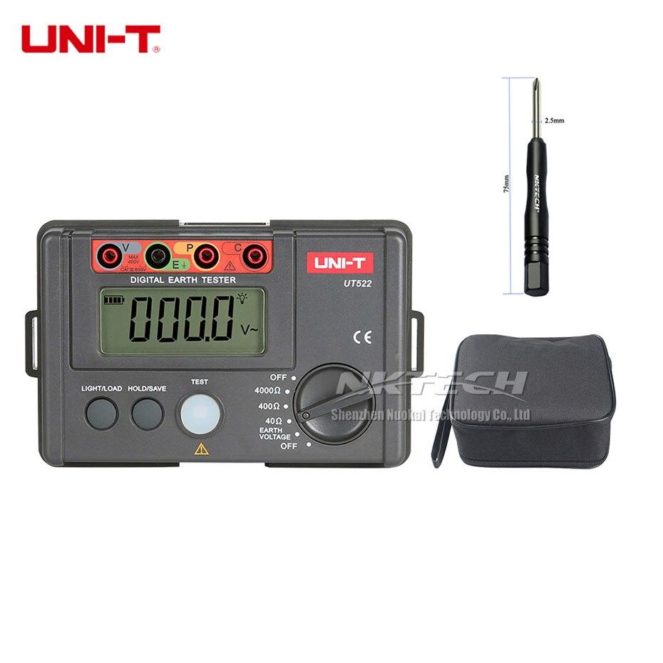 UNI-T UT522 testeur de résistance à l'isolation au sol de la terre numérique RCD mètres de fuite paratonnerre/détecteur faible enregistrement des données de Test