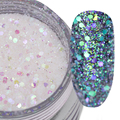 1 Box 10g Glitter Paillette Clear White Sparkly Mixed Nail Sequins Manicure Nail Art Decoration #4