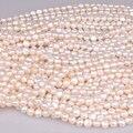 Clássico genuíno branco barroco água doce da pérola, 9-10 MM Beads para BRICOLAGE, pedra jóia fina da pérola B101