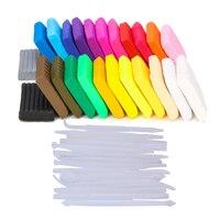 24 Colores Fimo Arcilla de Modelado de Arcilla de Color Plastilina BRICOLAJE Horneados Niños Niños Juguetes Educativos regalos