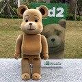 "11 "" 28 cm 400% Bearbrick Ted 2 Medicom juguete de regalo moda para novios @ rick colector juguete del PVC"