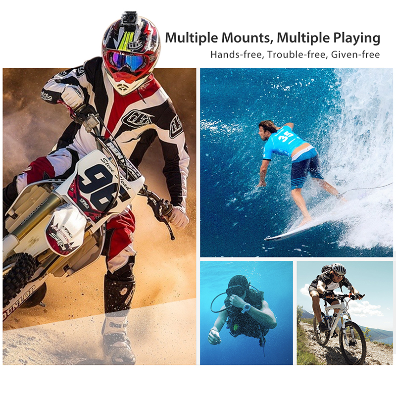ThiEYE I20 Action Camera 1080P 30fps 2 0 quot LCD 170D Underwater 40M Waterproof Helmet Cam Sport video Camera in Sports amp Action Video Camera from Consumer Electronics
