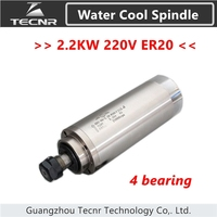 High Speed 2 2KW Water Cooling Spindle Motor 220V 4 Pcs Bearing