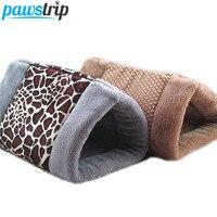 Suave Forro Polar Casa Cama del Gato Cachorro de Leopardo Caliente Del Invierno de Doble Uso Cojín Cama