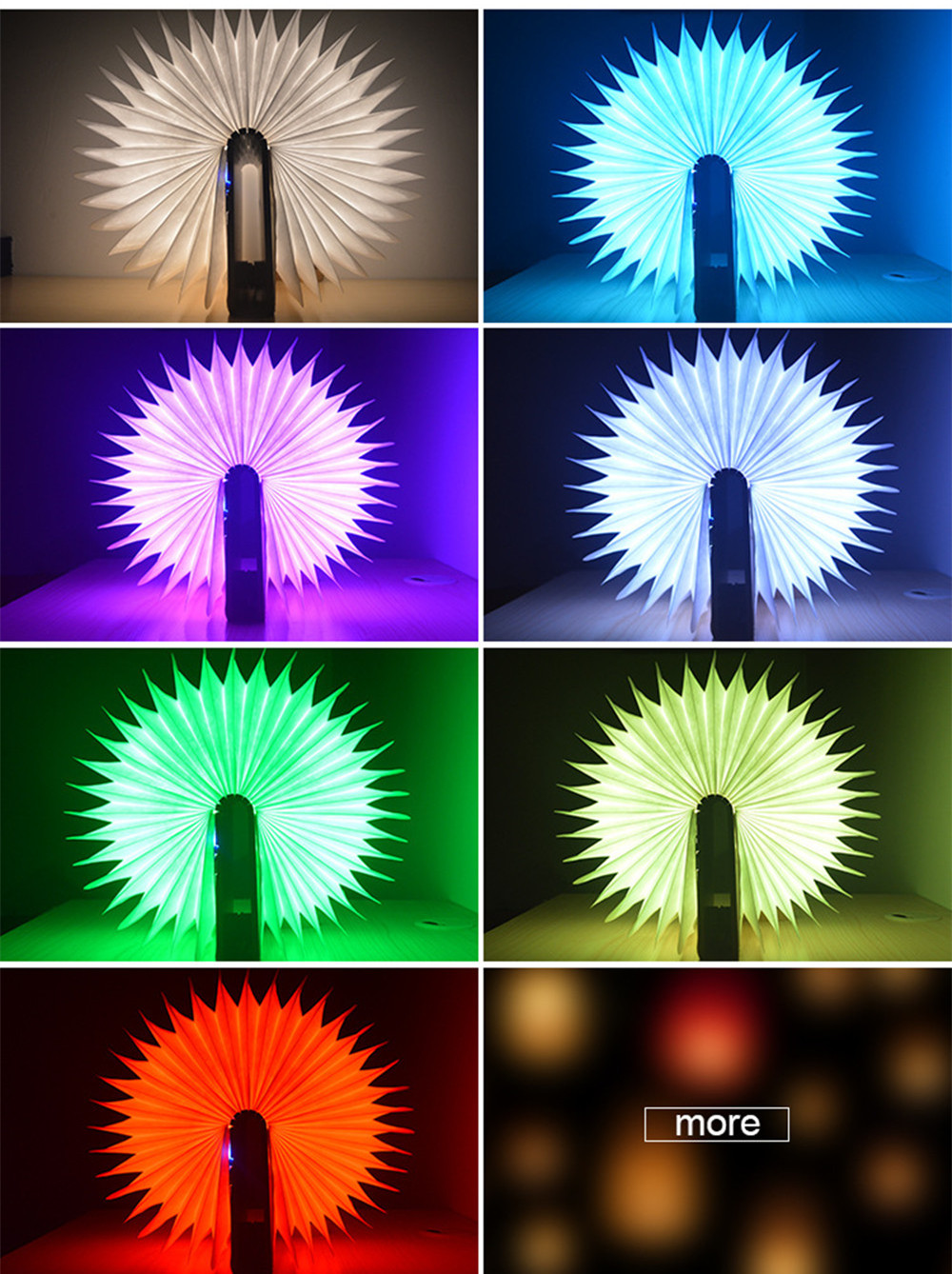 Colorful LED Book Lamp Quran Speaker Wireless Remote Control Night Light USB Rechargeable Lighting Learning Speaker for Muslim (9)
