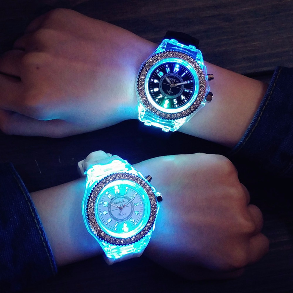 Hot Hot Ladies Womens Mens Geneva LED Backlight Sport Waterproof Quartz Wrist Watches